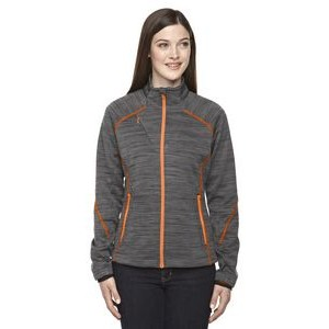 NORTH END SPORT RED Ladies' Flux Mélange Bonded Fleece Jacket