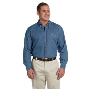 Harriton Men's 6.5 oz. Long-Sleeve Denim Shirt