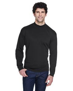 Custom UltraClub Adult Egyptian Interlock Long-Sleeve Mock Turtleneck Shirt