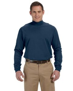 Devon & Jones® Adult Sueded Cotton Jersey Mock Turtleneck Shirt