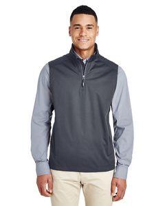 Custom CORE 365 Men's Techno Lite Three-Layer Knit Tech-Shell Quarter-Zip Vest
