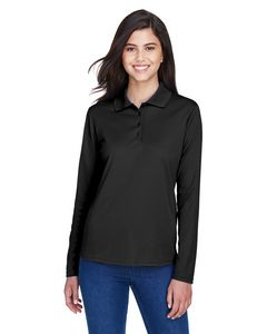Custom Ladies' Pinnacle CORE365 Performance Long Sleeve Pique Polo Shirt
