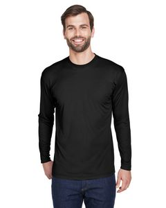 Custom UltraClub Adult Cool & Dry Long Sleeve Performance Interlock T-Shirt