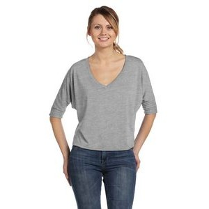 Color Image Apparel - Bella Ladies' Flowy Boxy Half-Sleeve V-Neck T-Shirt