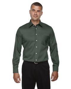 Devon & Jones Mens Crown Woven Collection Solid Stretch Twill Dress Shirt