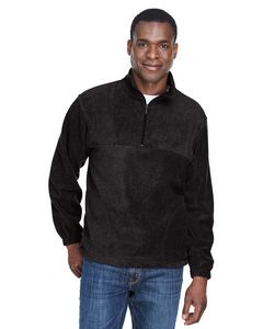 Custom Harriton 8 Oz. Quarter Zip Fleece Pullover Sweatshirt