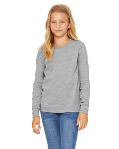 Custom BELLA+CANVAS Youth Jersey Long Sleeve T-Shirt
