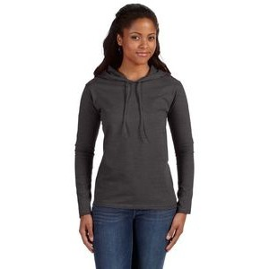 Anvil / Cotton Deluxe Ladies' Lightweight Long-Sleeve Hooded T-Shirt