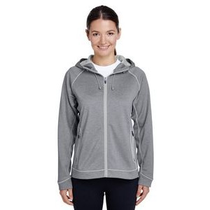 Team 365 Ladies' Excel Mélange Performance Fleece Jacket