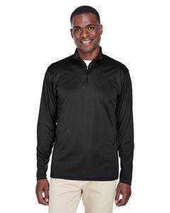 Custom UltraClub Men's Cool & Dry Sport Performance Interlock Quarter-Zip Pullover Shirt