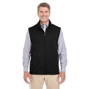 Devon and Jones Men's Newbury Mélange Fleece Vest