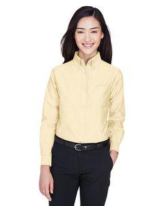 Custom UltraClub Ladies' Classic Wrinkle-Resistant Long Sleeve Oxford Dress Shirt