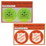 Custom Round Safety Reflective Stickers