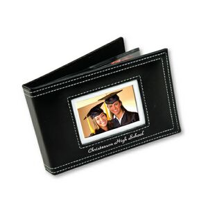Cameo Cover Photo Album w/ White Stitching