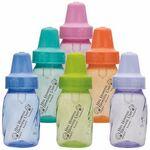 Custom 4 oz Assorted Color Evenflo Baby Bottles