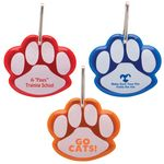 Custom Paw Shaped Reflective Collar Tag