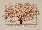 Custom Thankful Tree Thanksgiving Greeting Card