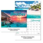 Custom Beaches Stitched Wall Calendar