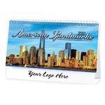 Custom American Landmarks Standard Desk Calendar