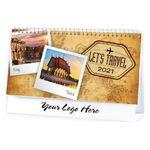 Custom Let's Travel Standard Desk Calendar