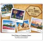 Custom Let's Travel Spiral Wall Calendar
