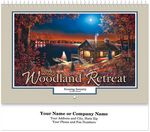 Custom Woodland Retreat Spiral Wall Calendar