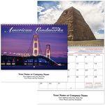 Custom American Landmarks Spiral Wall Calendar