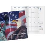 Custom Patriotic Liberty Classic Monthly Pocket Planner w/4 Color Map