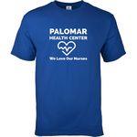 Custom Adult 100 percent Cotton Colored Screen Print T-Shirt