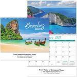 Custom Beaches Spiral Wall Calendar