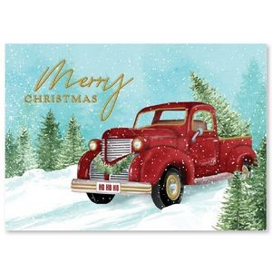 Snowy Vintage Christmas Greeting Card
