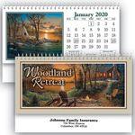 Custom Woodland Retreat Standard Desk Calendar