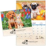 Custom Precious Pets Spiral Wall Calendar