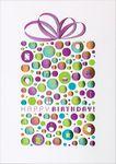 Custom Colorful Embossed Present Greeting Card