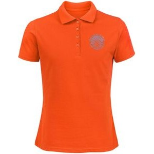 Ladies 100% Cotton Polo Shirt (Screened)