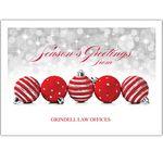 Custom Sparkling Ornaments Holiday Greeting Card