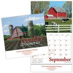 Custom Country Memories Stitched Wall Calendar