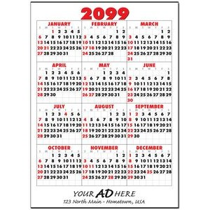 Jumbo Year-at-a-Glance Commercial Wall Calendar w/ Bottom Ad