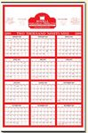 Custom Year-at-a-Glance Commercial Wall Calendar (22
