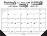 Custom Jumbo Desk Pad Calendar w/12 Month Calendar Desk Pad- Top Imprint