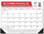 Custom Desk Planner Calendar w/ 2 Leatherette Corners