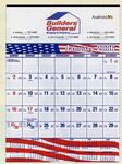 Custom Contractor's Commercial Wall Calendar w/ Patriotic Bars