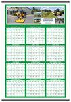 Custom Custom Color Year-at-a-Glance Wall Calendar (27