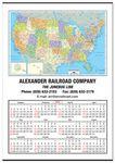 Custom Jumbo United States Map Wall Calendar