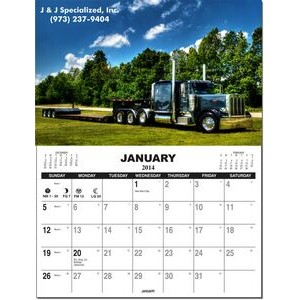 Re-positionable Wall Calendar W/ Custom Picture and Tear Off Pad