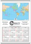 Custom Jumbo World Map Wall Calendar