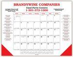 Custom Desk Planner Calendar w/ 2 Leatherette Corners (2 Side Imprint)