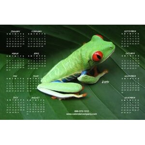 Re-positionable Mouse Pad Calendar w/Full Color Custom Picture