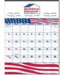 Custom Patriotic Contractor Wall Calendar w/Flag