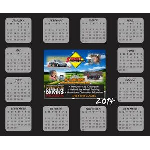 Re-positionable Year At Glance Calendar / Full Color Custom Picture